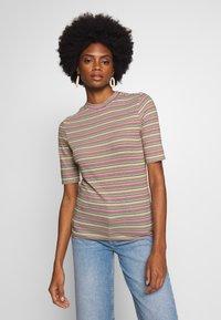 Marc O'Polo DENIM - OVERLONG SHORT SLEEVES STRIPE SLIM FIT - Print T-shirt - multi - 0