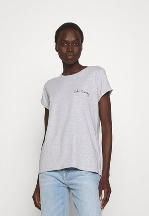 TEE POITOU TAKE IT EASY - T-shirt basic - light heather grey