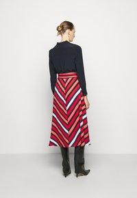 Diane von Furstenberg - TILDA - A-line skirt - shadow/pop red - 2