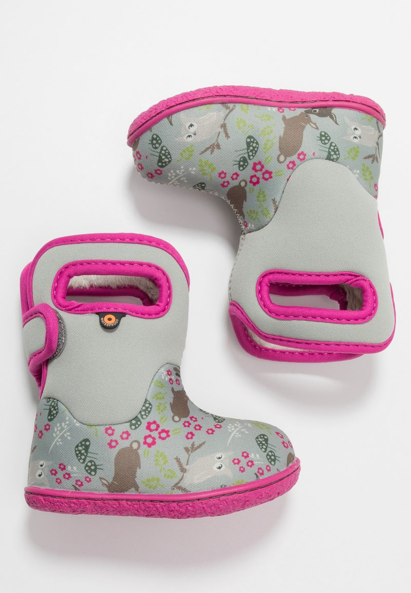 Bogs - BABY WOODLAND FRIENDS - Zimní obuv - light gray/multicolor
