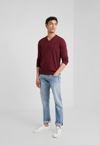 Polo Ralph Lauren - LONG SLEEVE - Sweter - classic wine heather - 1