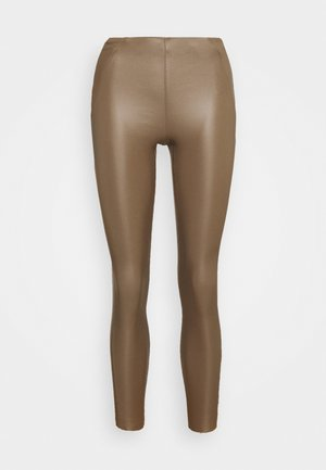 OBJBELLE COATED - Trousers - fossil