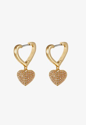 PAVE HUGGIES - Earrings - clear/gold-coloured