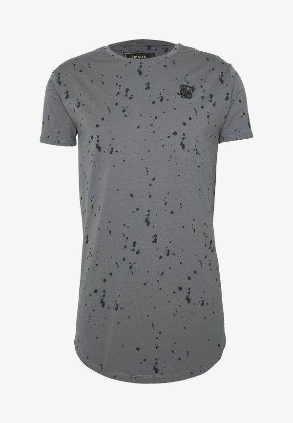 SIKSILK SPLATTER GYM TEE - T-shirt z nadrukiem - grey/szary Odzież Męska SJPI