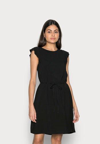 WITH RUFFLE SLEEVE - Day dress - deep black