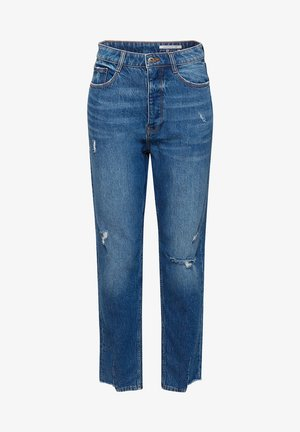 MIT HIGH-LOW-SÄUMEN - Straight leg jeans - blue medium washed