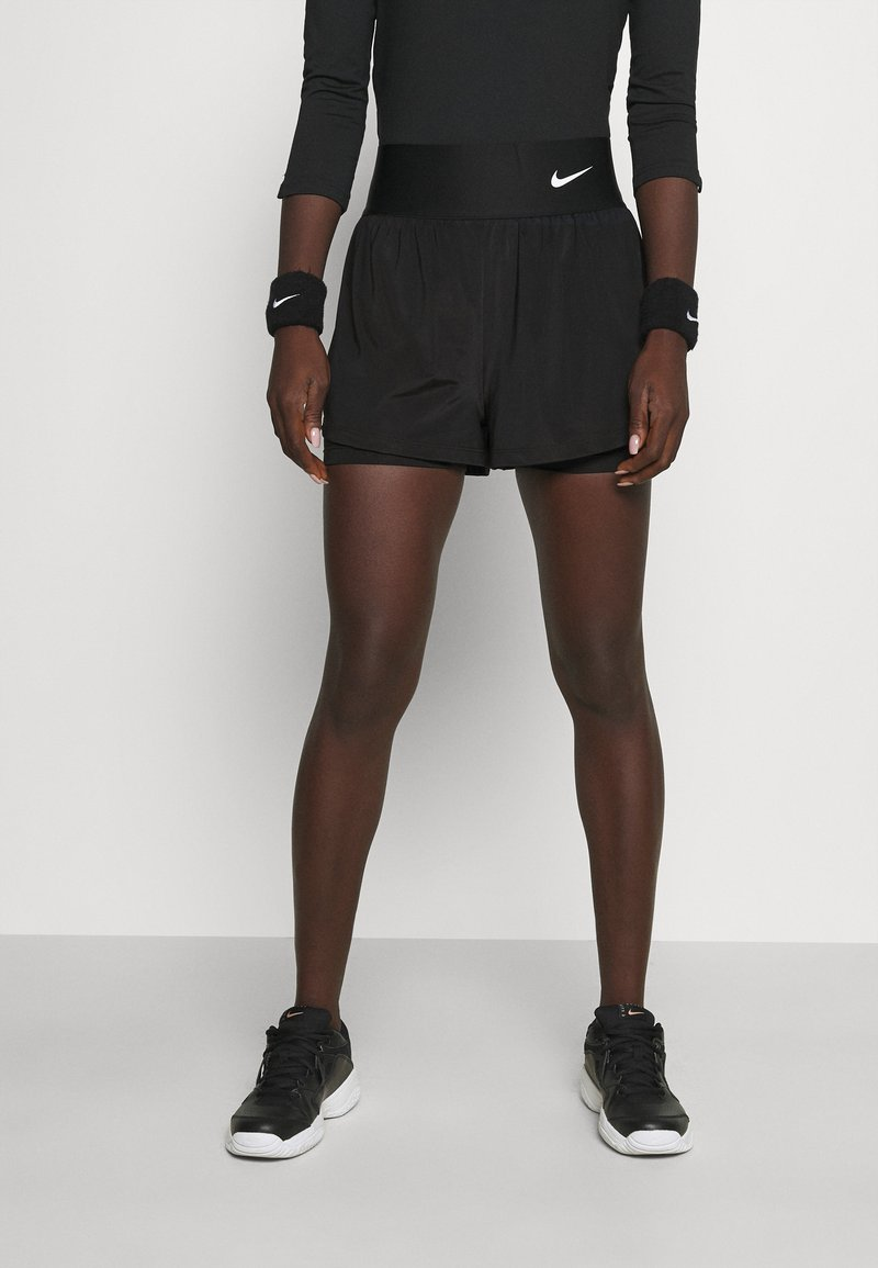 Nike Performance - SHORT - Sports shorts - black/white