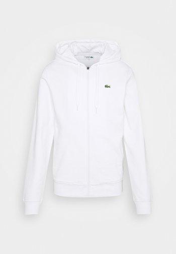 Sweater met rits - blanc