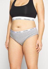 Calvin Klein Underwear - CAROUSEL PLUS SIZE 3 PACK - Briefs - black/white/grey heather - 3