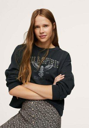 MET BOODSCHAP - Sweater - antraciet