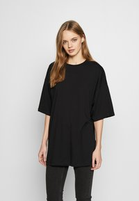 Even&Odd - T-shirt med print - black - 2