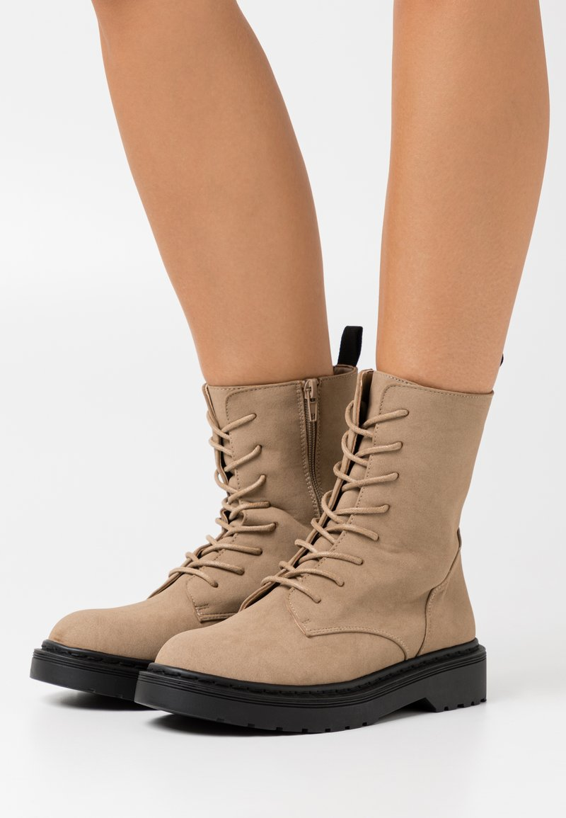 Rubi Shoes by Cotton On - FREDA LACE UP BOOT - Lace-up ankle boots - taupe