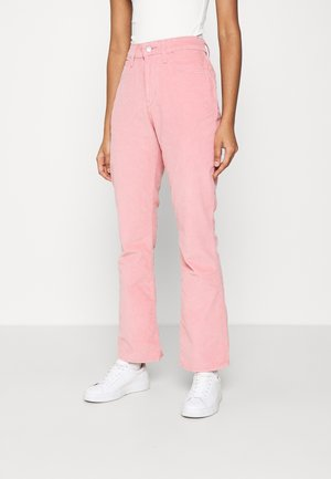 HIGH RISE BOOTCUT - Trousers - blush luxe