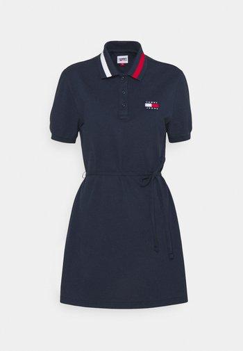 FLARED FLAG DRESS - Vapaa-ajan mekko - twilight navy