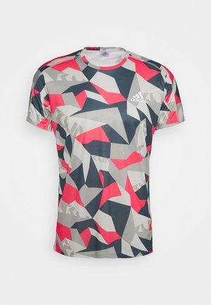 RESPONSE PRIMEGREEN RUNNING SHORT SLEEVE TEE - T-shirt imprimé - grey/pink