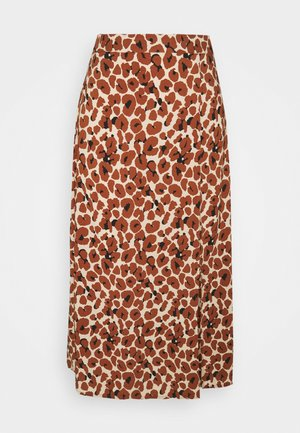 VILANA LEO SLIT SKIRT - A-line skirt - dark brown