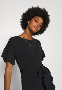 Vero Moda - VMPOPPY TIE SHORT DRESS - Shift dress - black - 0