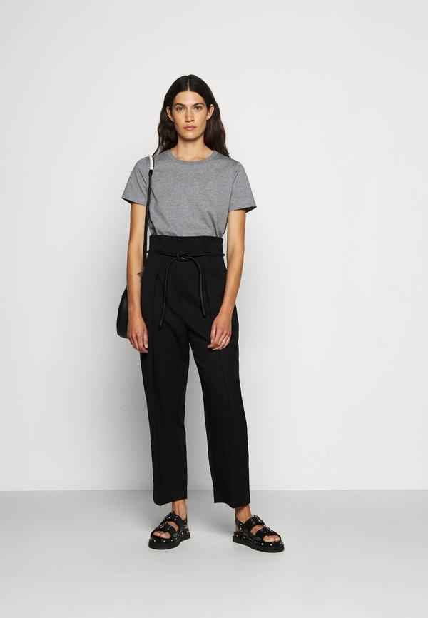3.1 Phillip Lim LOGO CREW - T-shirt basic - grey melange Melanż Odzież Damska KHKA HT 7