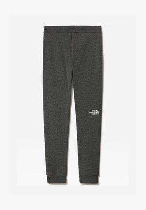 Y FLEECE PANT - Pantalon de survêtement - tnfmediumgreyhtr/tnfwhite