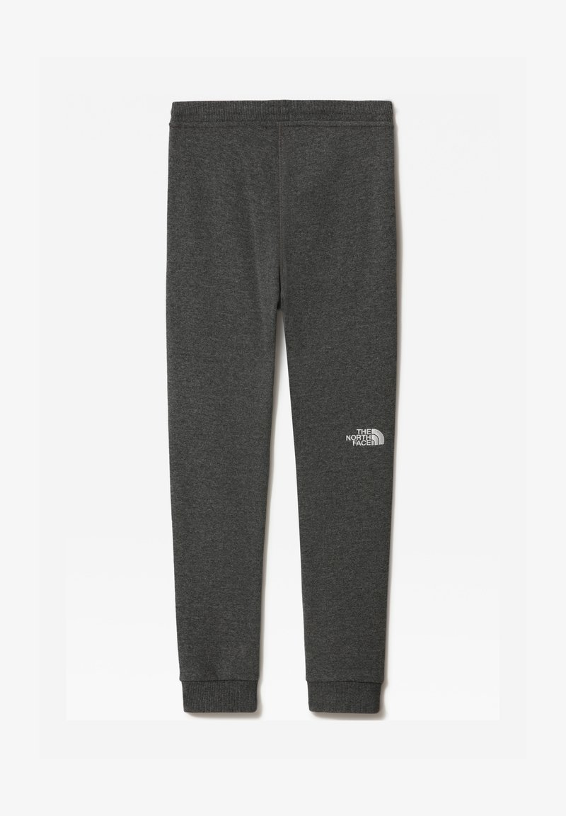 The North Face - Y FLEECE PANT - Tracksuit bottoms - tnfmediumgreyhtr/tnfwhite