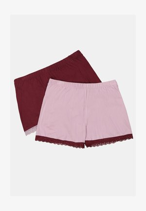 2 PACK - Pyjama bottoms - light rose/bordeaux red