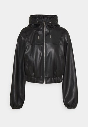 SPORT JACKET - Faux leather jacket - black