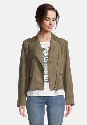 Faux leather jacket - olive