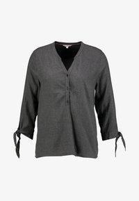 HENLEY BLOUSE - Bluser - shale grey melange