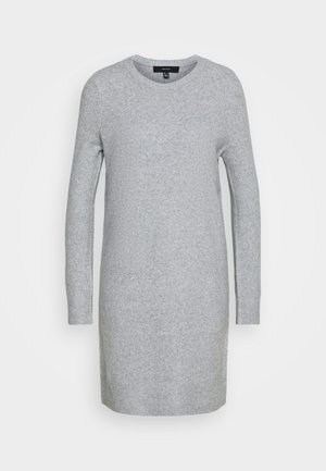 VMDOFFY O NECK DRESS PETIT - Jumper dress - light grey melange