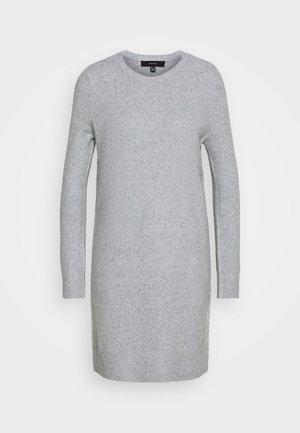 VMDOFFY O NECK DRESS PETIT - Pletené šaty - light grey melange