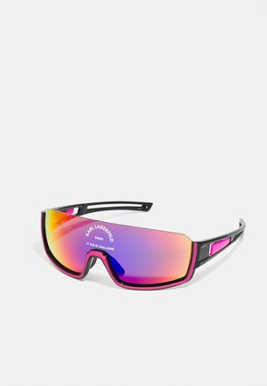 UNISEX - Sunglasses - black/fuchsia