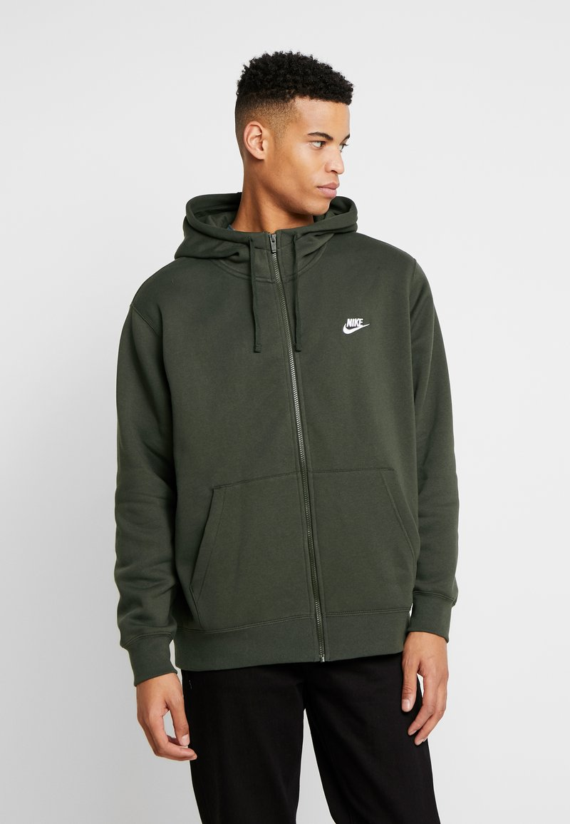 Nike Sportswear - CLUB HOODIE - Zip-up sweatshirt - sequoia