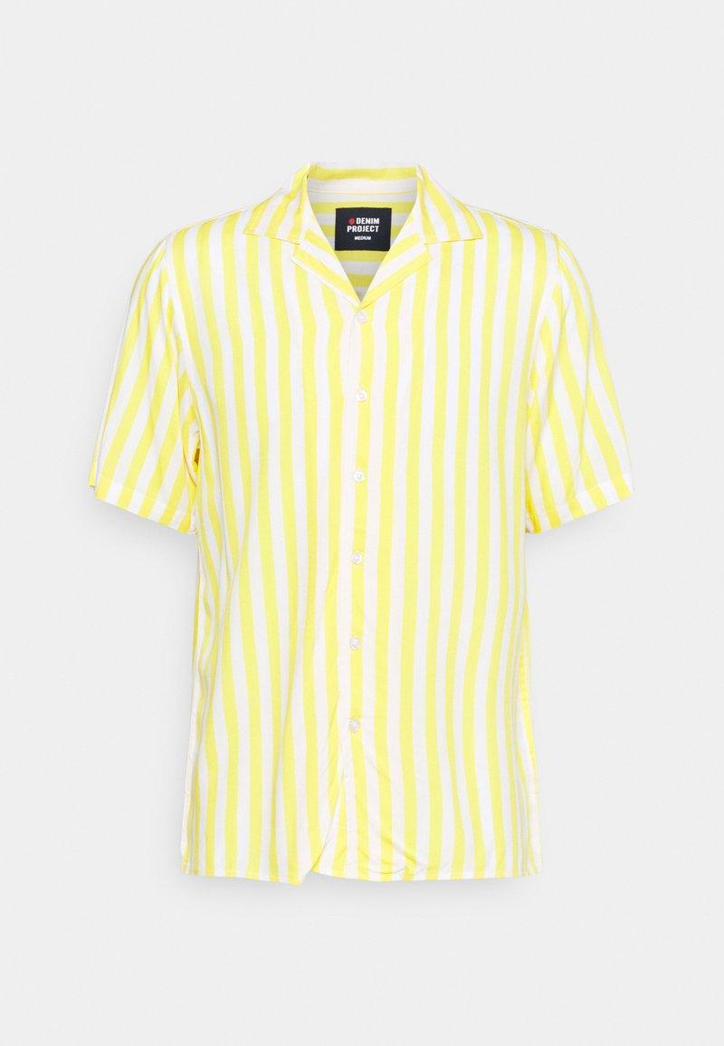 Denim Project - EL CUBA - Shirt - white/yellow