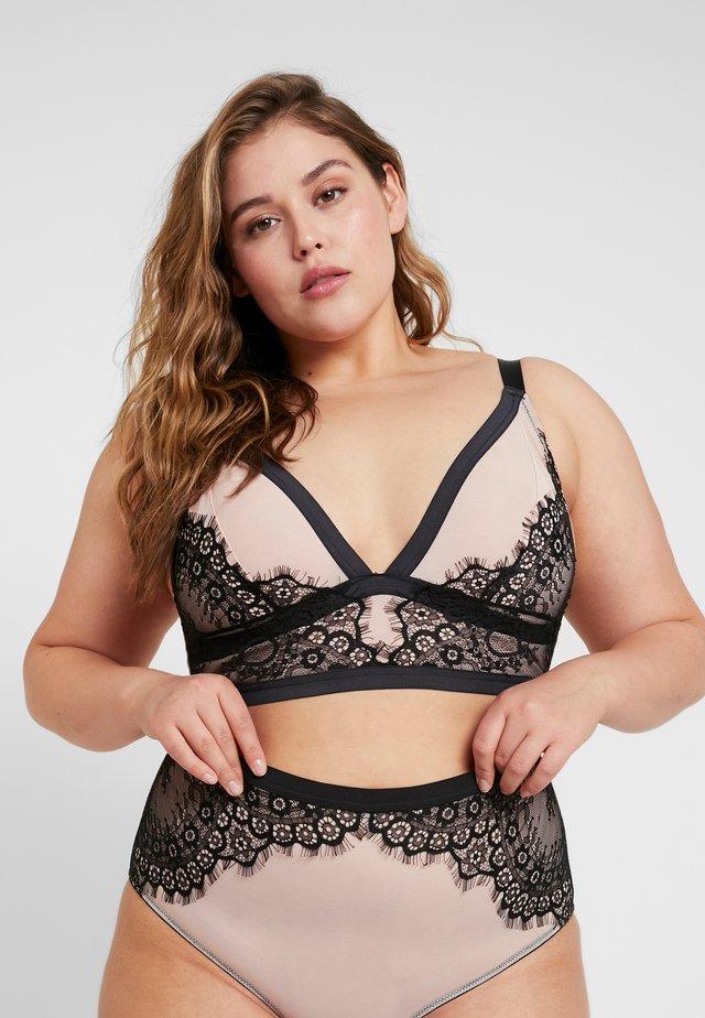 IVY STRUCTURED SOFT BRA - Triangle bra - nude/black