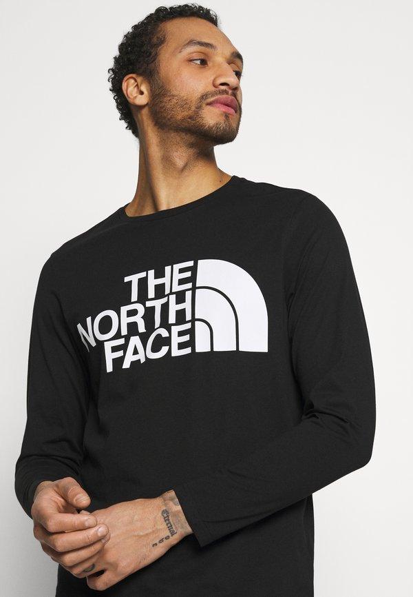 The North Face STANDARD TEE - Bluzka z długim rękawem - black/czarny Odzież Męska ORKG