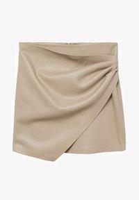 Mango - LEEREFFECT - Wrap skirt - licht/pastelgrijs - 5