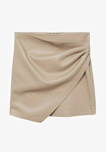 LEEREFFECT - Wrap skirt - licht/pastelgrijs