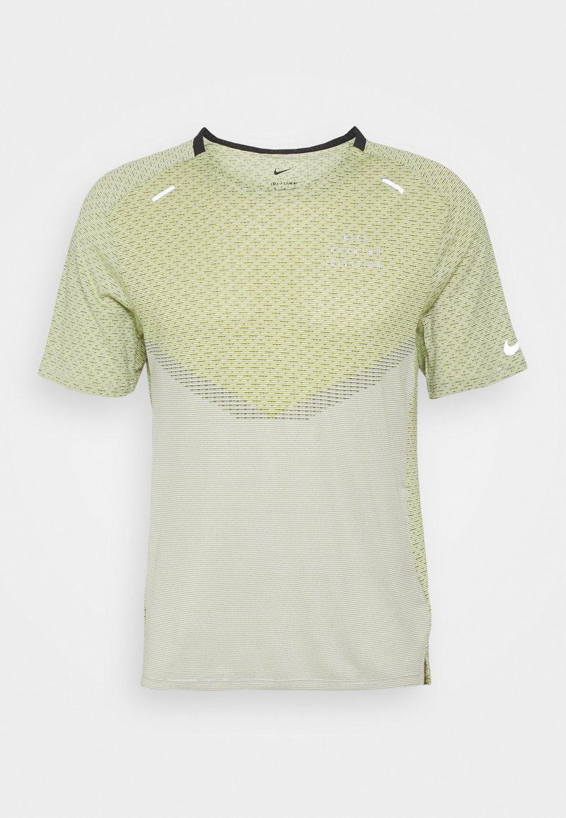 Nike Performance - RUN - T-shirts print - black/lemon twist/iris whisper