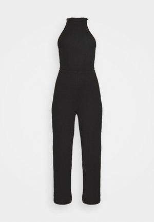 HALTER NECK WIDE LEG JUMPSUIT - Jumpsuit - black