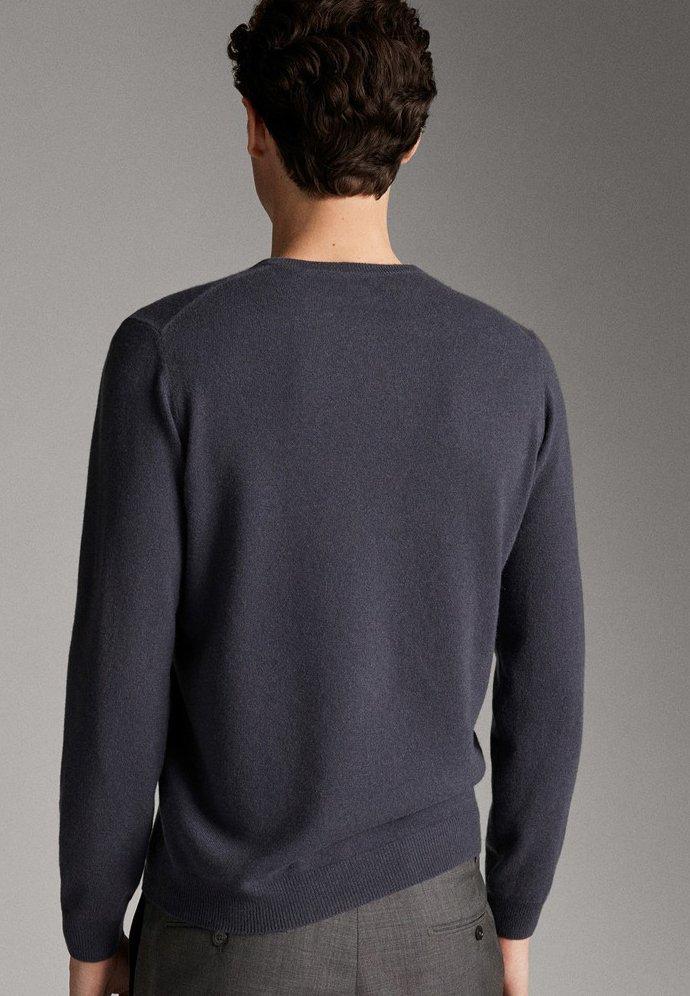 Massimo Dutti PULLOVER AUS 100% KASCHMIR MIT RUNDAUSSCHNITT 00928450 - Pullover - dark grey