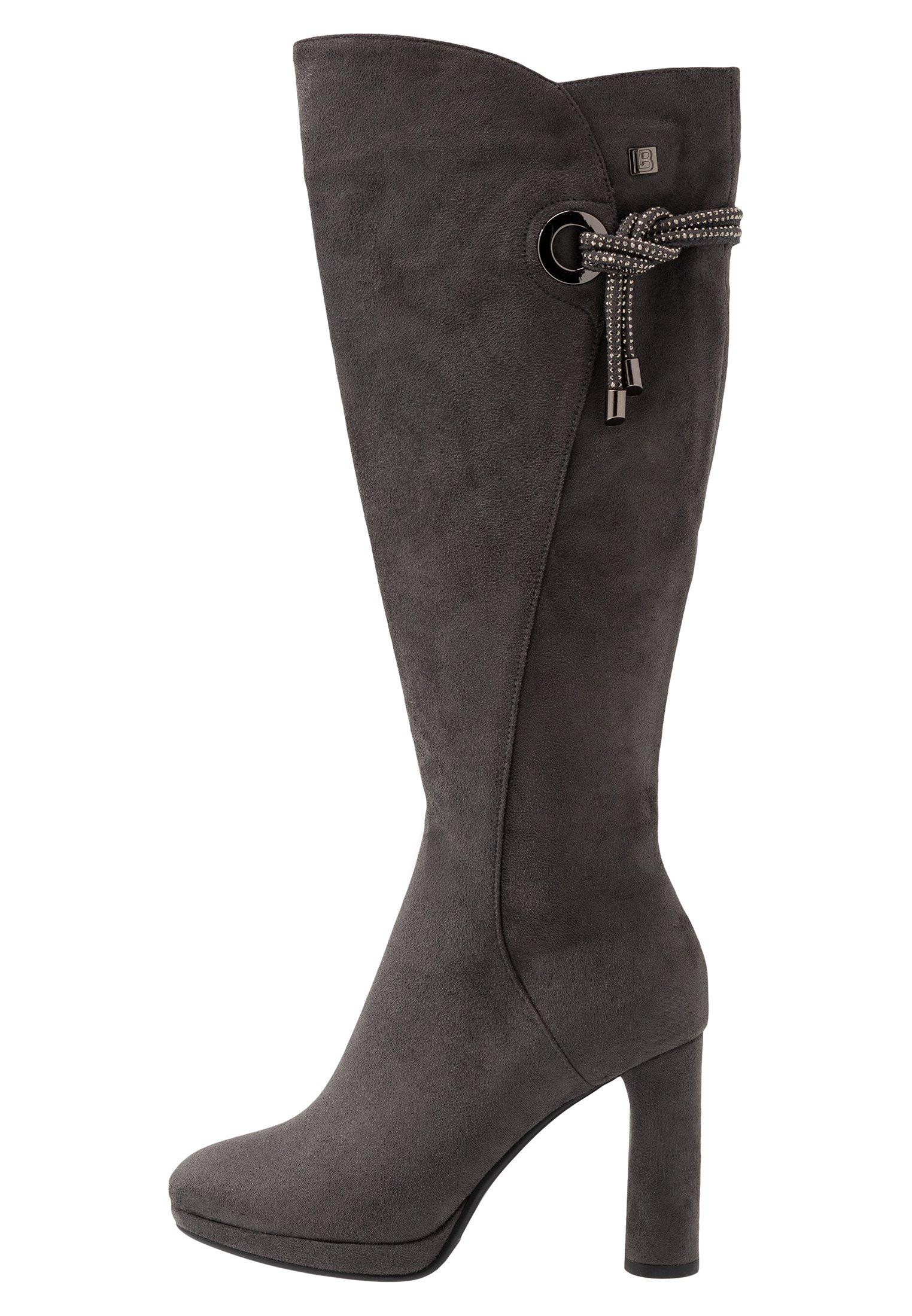 Gray Boots | Laura Biagiotti | Overknee stövlar | Miinto.se