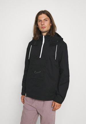 ANORAK WAFFLE - Summer jacket - black/white