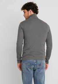 Marc O'Polo - LONGSLEEVE TURTLENECK - Long sleeved top - graphite grey melange - 2