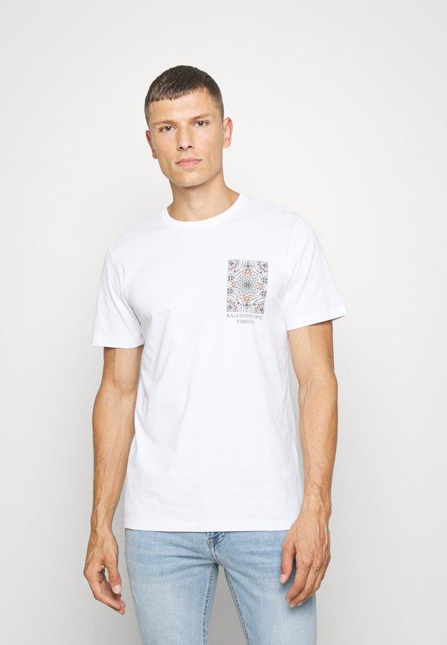 SLHCITY ONECK TEE  - Print T-shirt - bright white