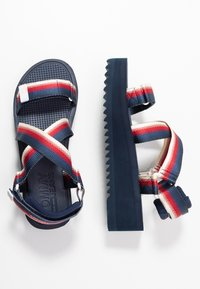 Tommy Jeans - DEGRADE TAPE FLATFORM - Platform sandals - twilight navy - 3