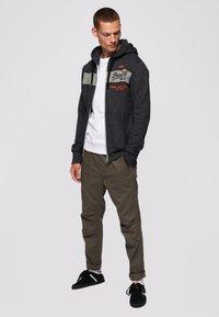 Superdry - Zip-up sweatshirt - dark grey - 1