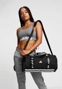adidas Performance - ESSENTIALS 3 STRIPES SPORT DUFFEL BAG - Sportovní taška - black/white - 5