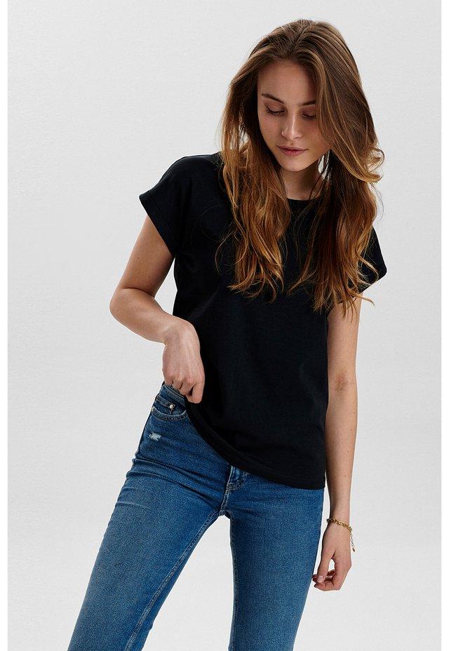 NUBEVERLY  - T-shirt basic - caviar