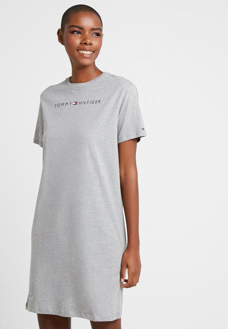 Tommy Hilfiger - ORIGINAL DRESS HALF SLEEVE - Nightie - grey heather