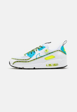 AIR MAX 90 - Sneakers laag - white/blue fury/black/volt/dark grey